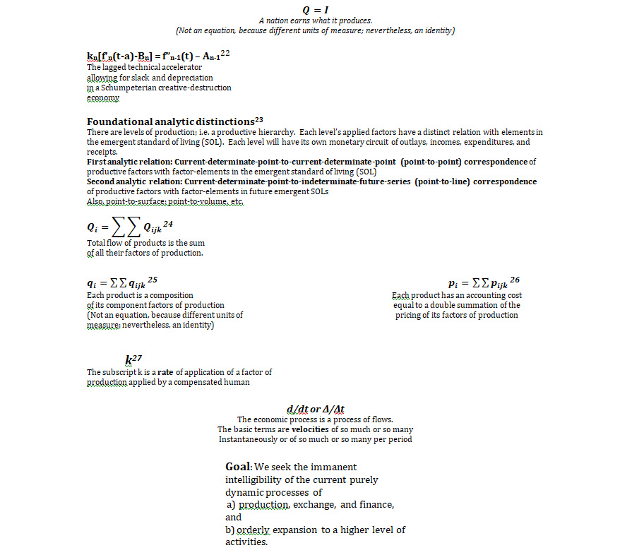 Edifice of Formulae | Bernard Lonergan's Functional